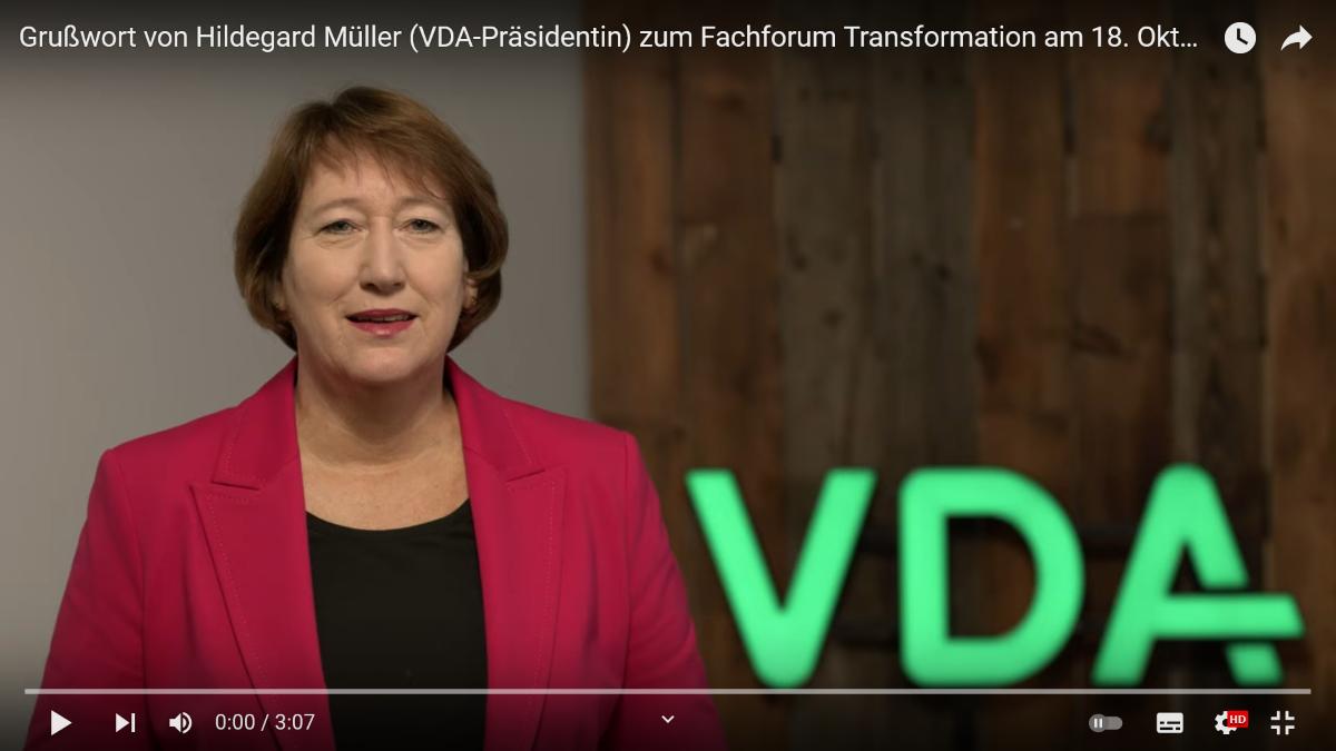 Grußwort VDA-Präsidentin Müller